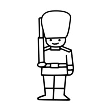 Beefeater Guard Cartoon Illust...
