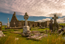 Old Cemetery With Irish Celtic...