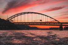 Fort Pitt Bridge Sunset