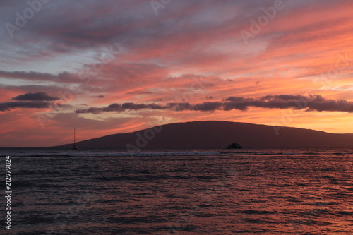 Papiers peints Corail sea sunset