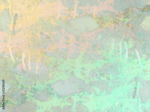 Gold And Green Mint Marble Background Shiny Glitter And Glossy