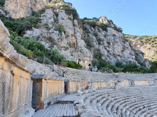 Deurstickers Grijs ancient ruins in Antalya Turkey