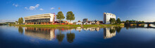 Panorama Of River Trent Bridges And Reflections In Nottingham