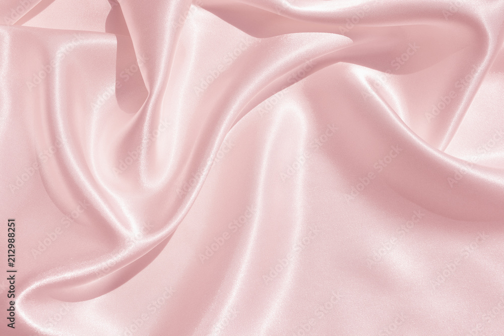 Fototapety, obrazy: The texture of the satin fabric of pink color for the background