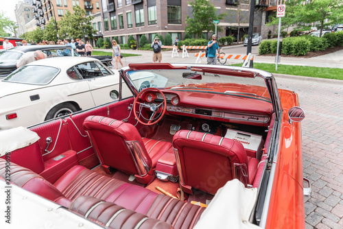 Foto op Plexiglas Motorsport Red Car Interior