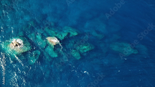 Tuinposter Luchtfoto Aerial drone photo coastline and ocean