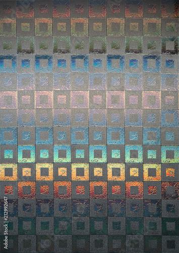 Fotobehang - Texture of glass mosaic