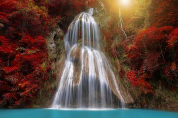 Panel Szklany Podświetlane Natura Pha Nam Yod Waterfall.