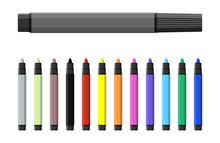 Markers Pen. Set Of Varioust C...