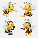 Fototapeta Fototapety na ścianę do pokoju dziecięcego - Funny cartoon bee collection