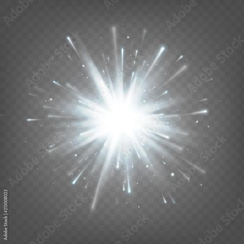Valokuvatapetti Stock vector illustration white explosion isolated on white background