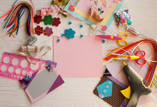 Scrapbook Background. Card And...