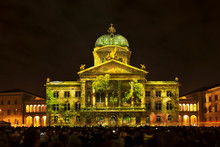 Rendez-vous Bundesplatz, Light Installation At The Federal Palace Of Switzerland, Bundesplatz, UNESCO World Heritage Site, Canton Of Bern, Switzerland, Europe