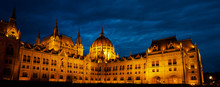 Budapest Hungarian Parliament At Night