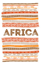African Background, Flyer With...