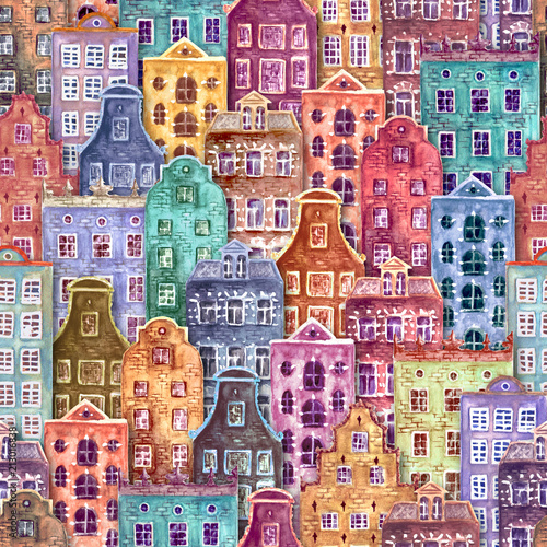 bezszwowy-wzor-akwareli-europe-starzy-domy