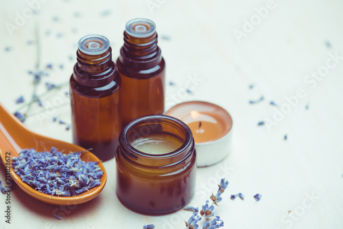 Photo lavender body care products