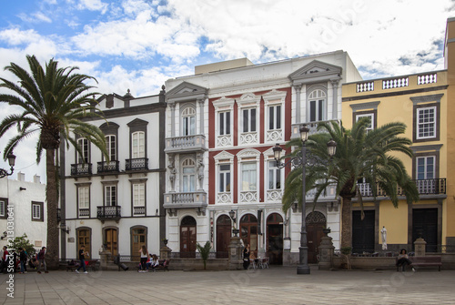 Wall Murals Northern Europe Cityscape with houses in Las Palmas, Gran Canaria, Spain