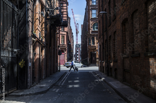Canvas Prints Narrow alley Manchester Streets