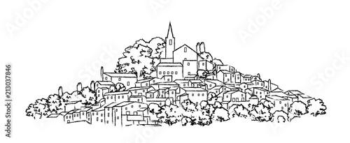 Fotografie, Obraz  town drawing