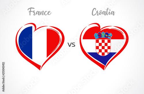 France vs Croatia flags 7a7bad06c