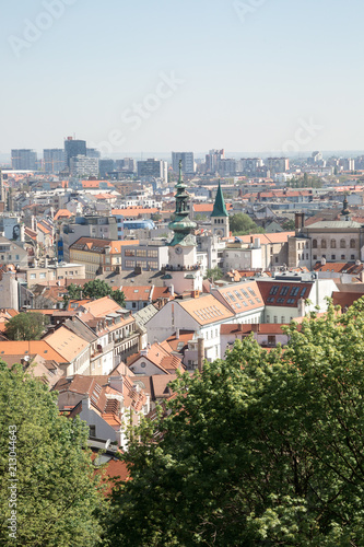 Deurstickers Oost Europa Saint Martin's cathedral and panorama of Bratislava, photo taken on bright summer sunny day