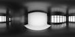 HDRi map black room light source for 3D rendering or VR