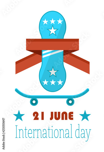 Poster  21 June Go Skateboarding International Day GSD