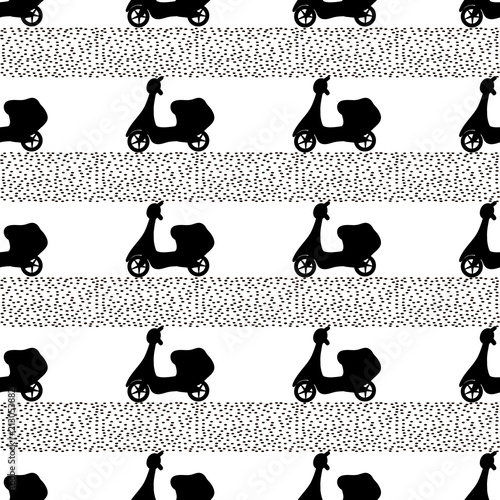 bezszwowy-wzor-z-czarnymi-motorowerami-na-bialym-tle