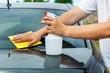 Man clean car