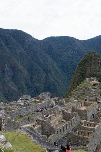 Foto op Plexiglas Nachtblauw Machu Picchu, Peru