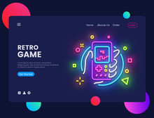 Retro Games Website Concept Ba...