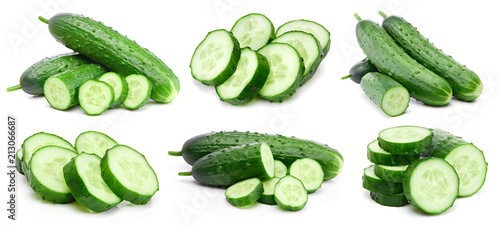 Photo  Cucumber collection isolated