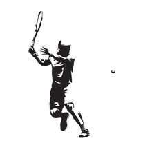 Tennis Player Isolated Vector ...