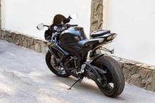 Modern Sporbike Parked In Street