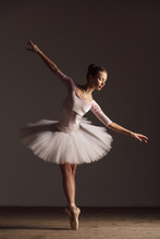 Young Beautiful Ballerina Is P...