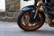 Modern Sporbike Parked In Street Close
