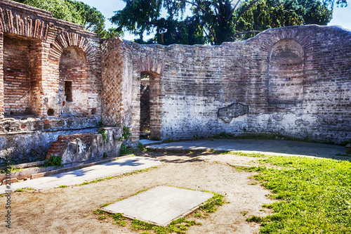 Foto op Aluminium Rudnes A room of the domus of Fortune Annonaria a rich Roman imperial house in Ostia Antica - Rome, Italy