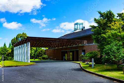 landscape of japanese golf course in chiba Fototapet