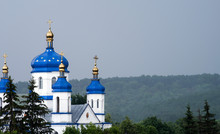 Orthodox Church With Gilded Do...