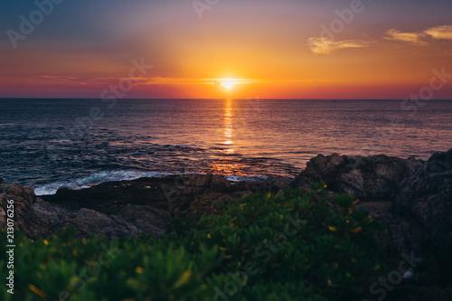 Spoed Foto op Canvas Zee zonsondergang Sunset and sea