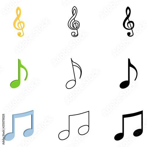 Vector Set Of Music Notes Symbols Buy This Stock Vector And