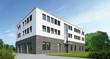 canvas print picture - Geschäftsgebäude 3 weiss mauerwerk