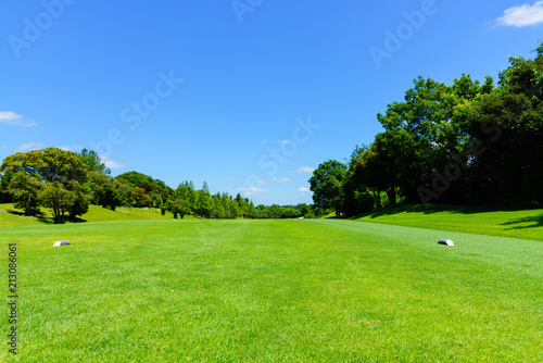 landscape of japanese golf course in chiba