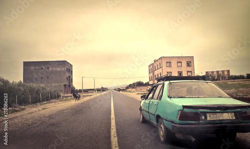 vintage-amerykanska-autostrada