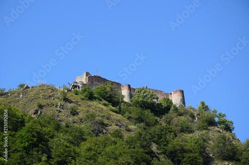 Spoed Foto op Canvas Rudnes Ruins of Poenari Castle on Mount Cetatea. Real Dracula castle, Romania.