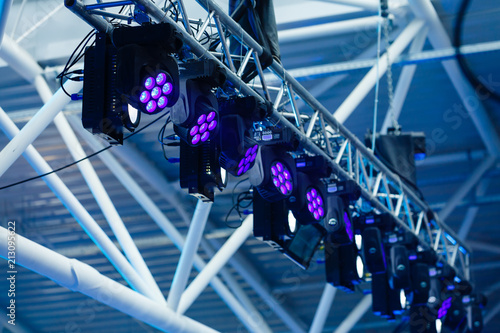 Stage lights at the concert - 213095622