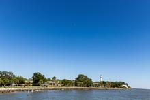 Coast Of St Simons Island With Lighthouse
