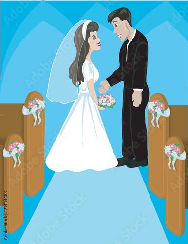 Canvastavla Bride Groom