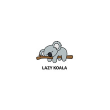 Lazy Koala Sleeping On A Branc...